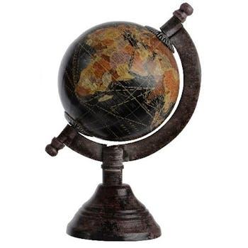 Globe vintage camel noir H16cm