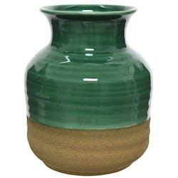 Vase vert en porcelaine H17,5cm