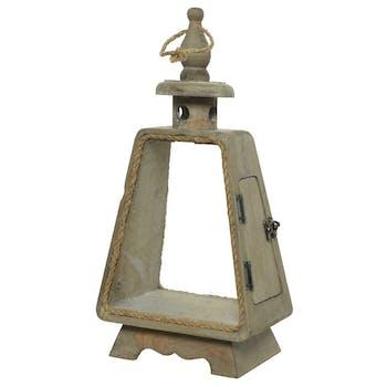 Lanterne phare en bois H45cm