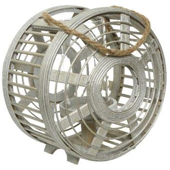 Lanterne roue bambou gris D24cm