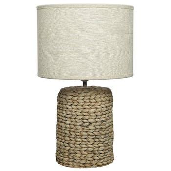 Lampe béton jacinthe d'eau 46 cm