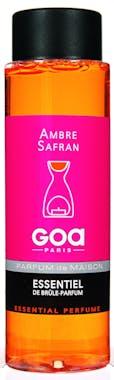 Huile parfumée Ambre Safran pour brule-parfum CLEM GOA 250ml