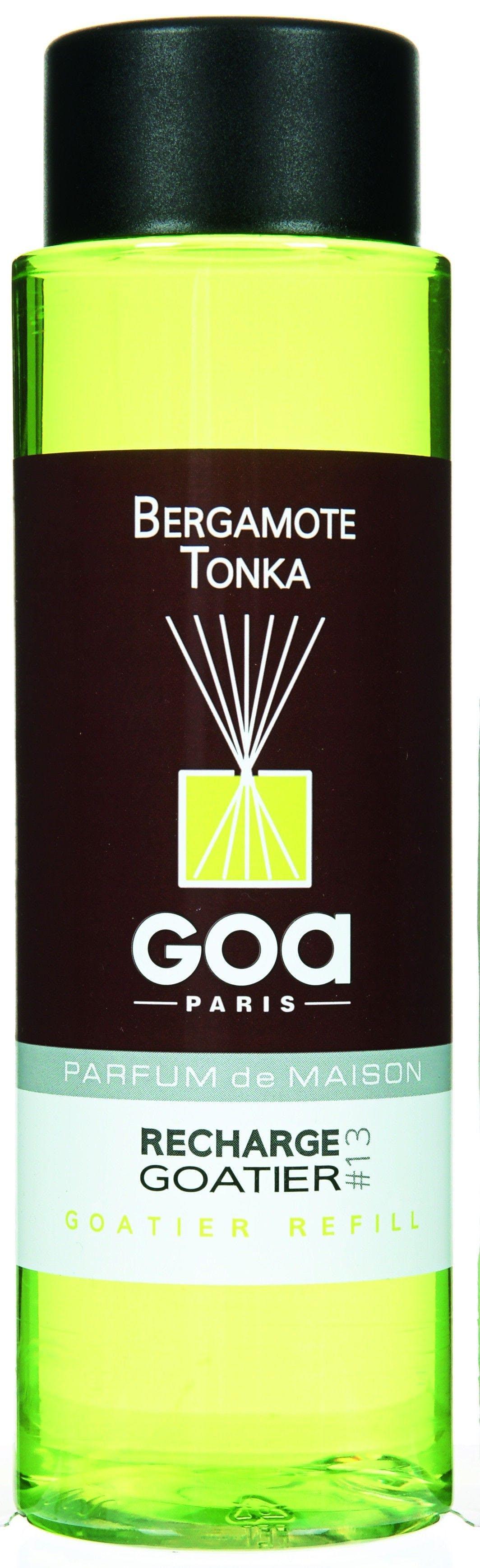 Recharge Bergamote Tonka pour diffuseur de parfum CLEM GOA 250ml