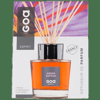 Diffuseur de parfum Esprit Ambre Safran CLEM GOA 200ml