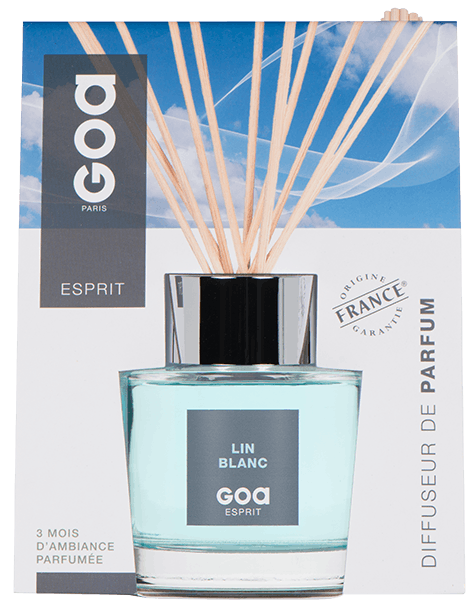 Diffuseur de parfum Esprit Lin Blanc CLEM GOA 200ml