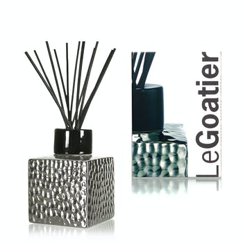 Diffuseur de parfum en céramique martelée Silver Black CLEM GOA 250ml