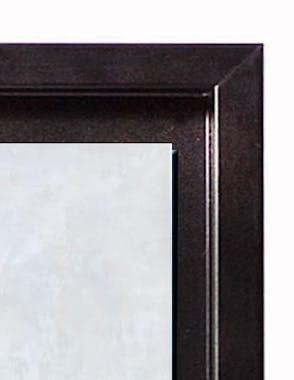 Tableau ANIMAUX Zèbre Caisse américaine en bois noir 90x70cm