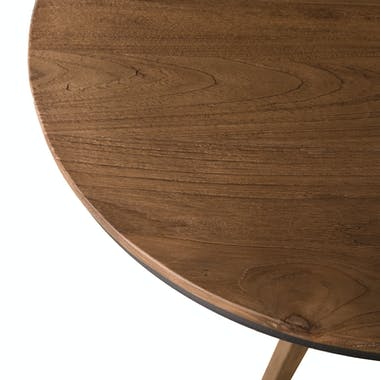 Table d'appoint ronde teck recyclé SWING