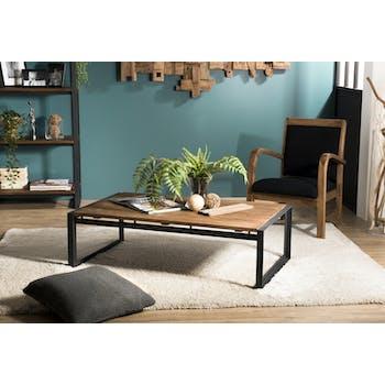 Table basse industrielle teck recyclé SWING
