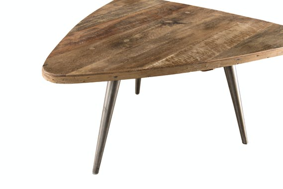 Table d'appoint triangulaire teck recyclé PM SWING