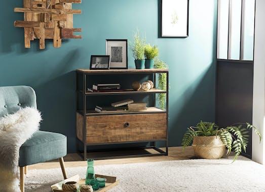 Petit meuble de rangement teck recyclé SWING