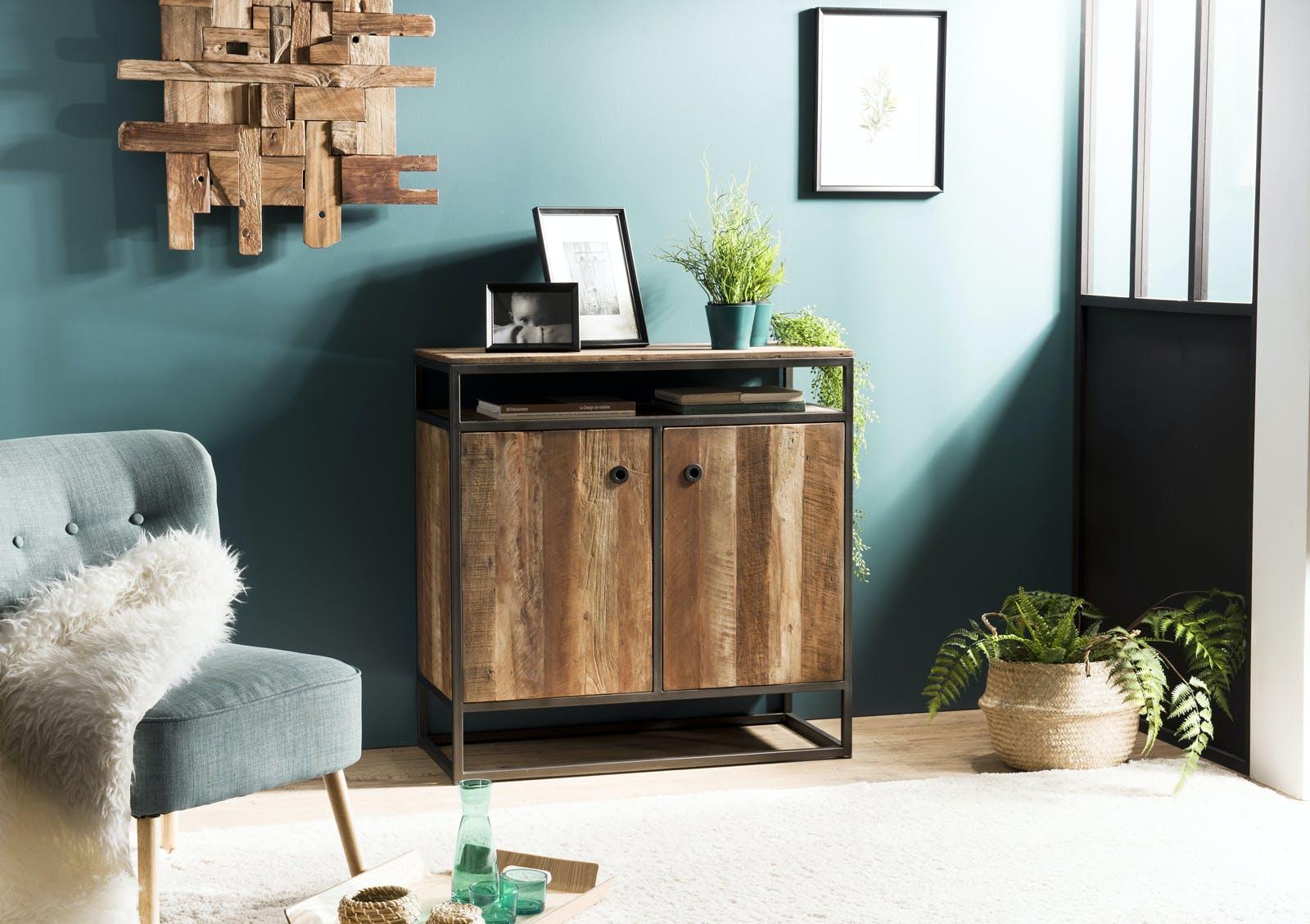 Buffet 2 portes bois recyclé SWING