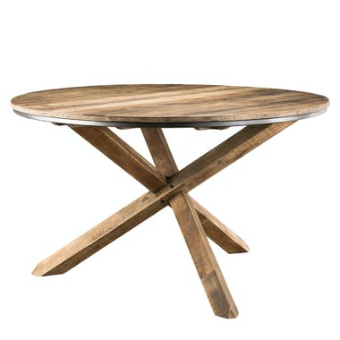 Table à manger ronde teck recyclé D130 SWING
