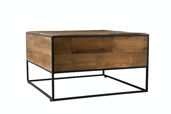 Petite table basse carrée teck recyclé SWING