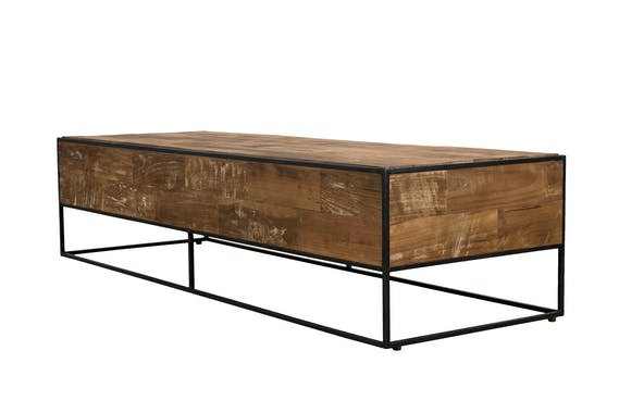 Table basse rectangulaire style atelier SWING