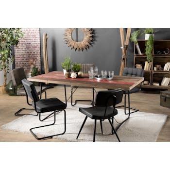 Table à manger rectangulaire bois recyclé 180x90 JODHPUR