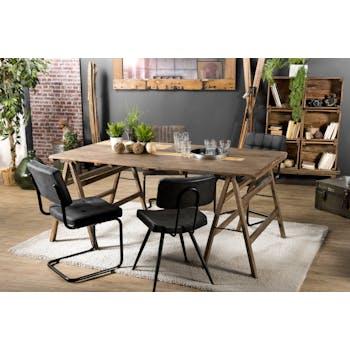 Table tréteaux bois recyclé 180x100 JODHPUR