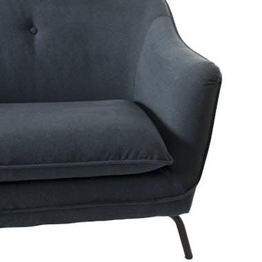 Canapé 2 places tissu gris bleuté STOCKHOLM
