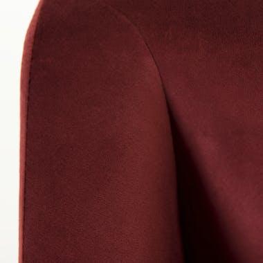 Fauteuil velours rouge bordeaux pieds épingle STOCKHOLM