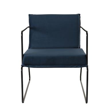 Fauteuil velours bleu foncé STOCKHOLM