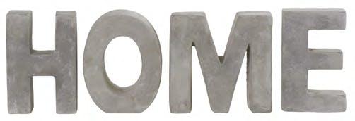 """Lettres à poser en ciment """"HOME"""" H15cm"""