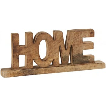 """Mot """"HOME"""" à poser en bois découpé 38xH14cm"""