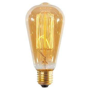 Ampoule vintage filament à incandescence style rétro ambré D6x14cm
