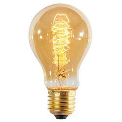 Ampoule vintage filament à incandescence forme ronde ambré D6xH11cm