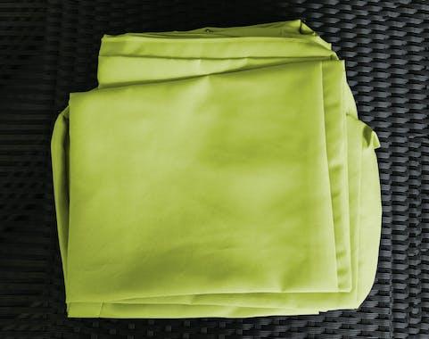 Jeu de Housses tissu vert pour Salon de Jardin BALI