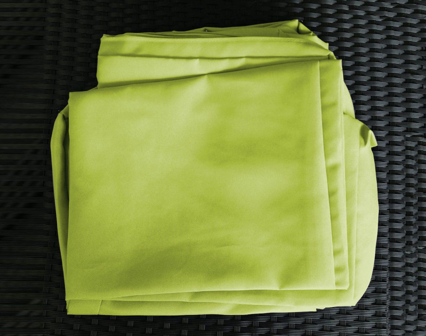 Jeu de Housses tissu vert pour Salon de Jardin ANGEL