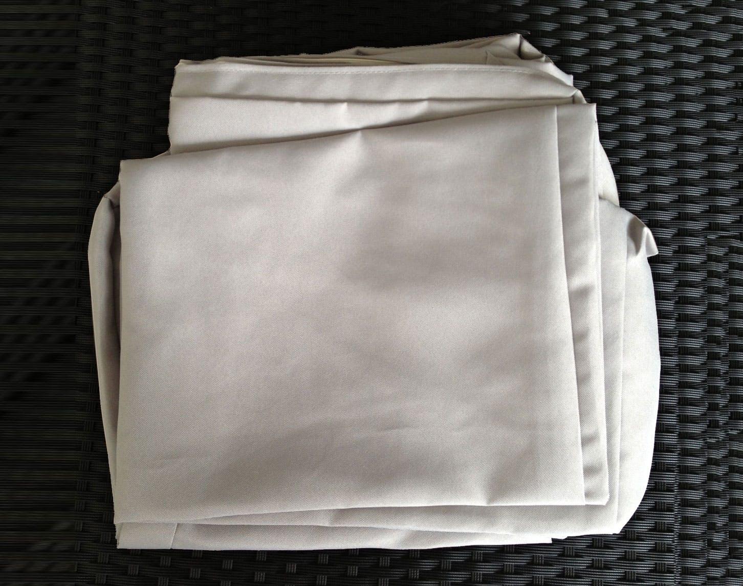Jeu de Housses tissu gris pour Salon de Jardin ANGEL