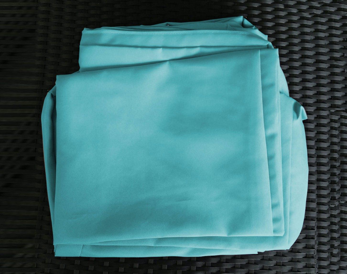 Jeu de Housses tissu bleu pour Salon de Jardin COPACABANA