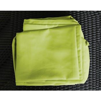 Jeu de Housses tissu vert pour Salon de Jardin COPACABANA