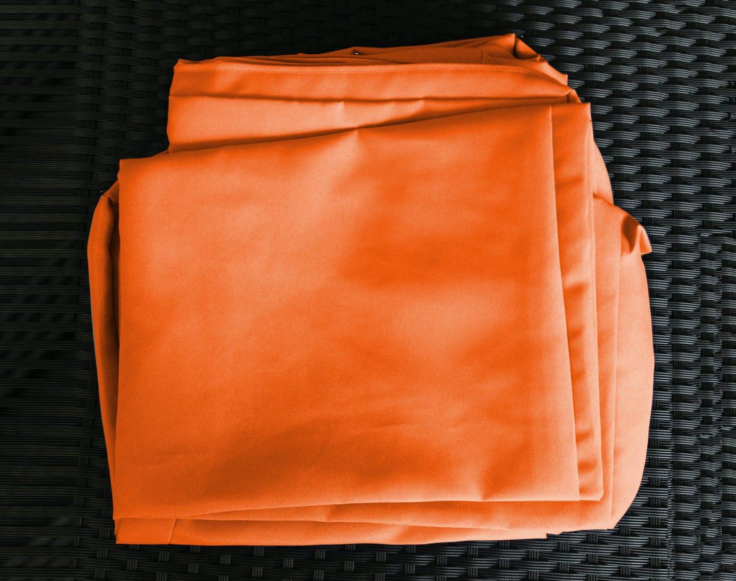 Jeu de Housses tissu orange pour Salon de Jardin COPACABANA