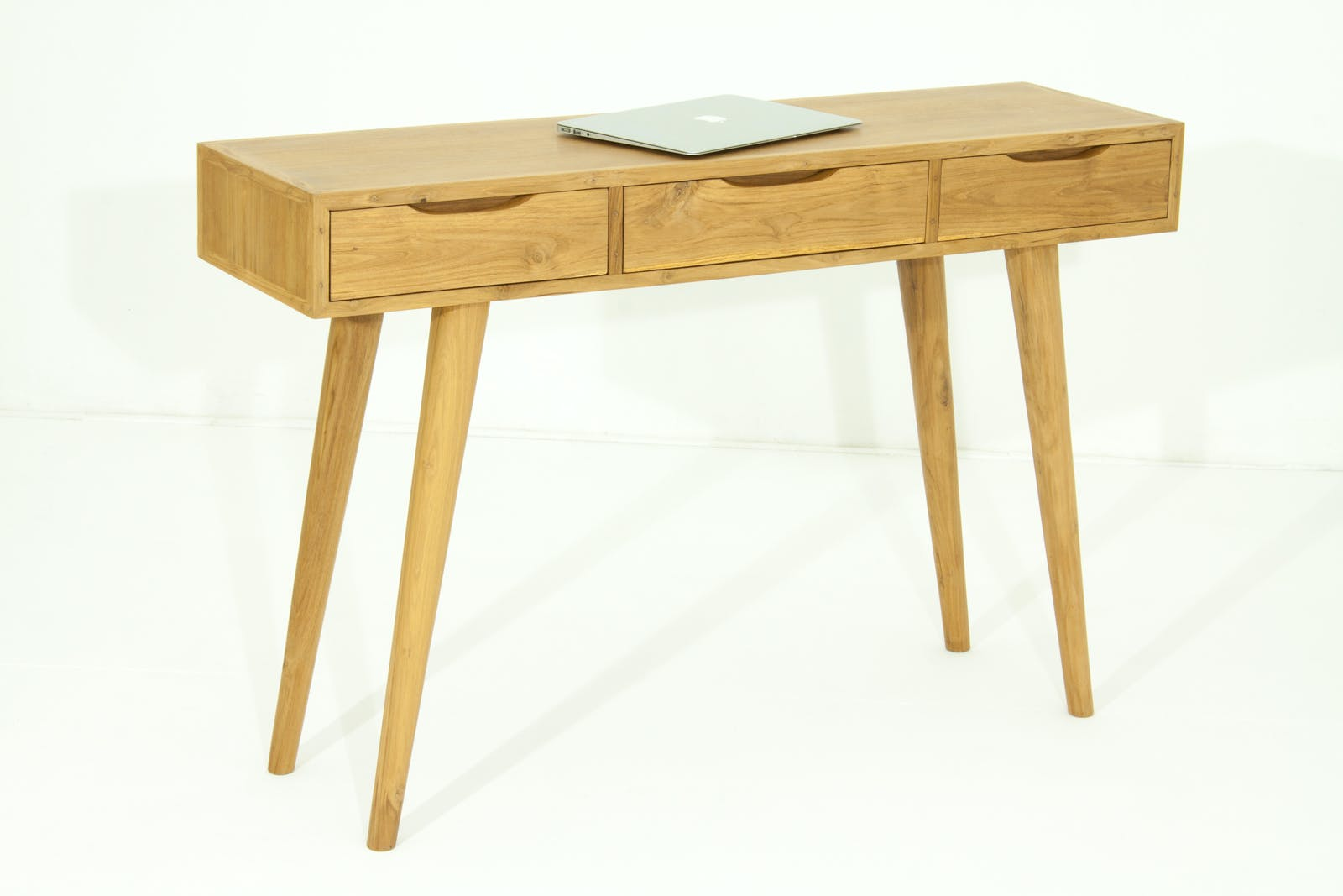 Console en Teck massif naturel 3 tiroirs 120x35x80cm FIFTEES
