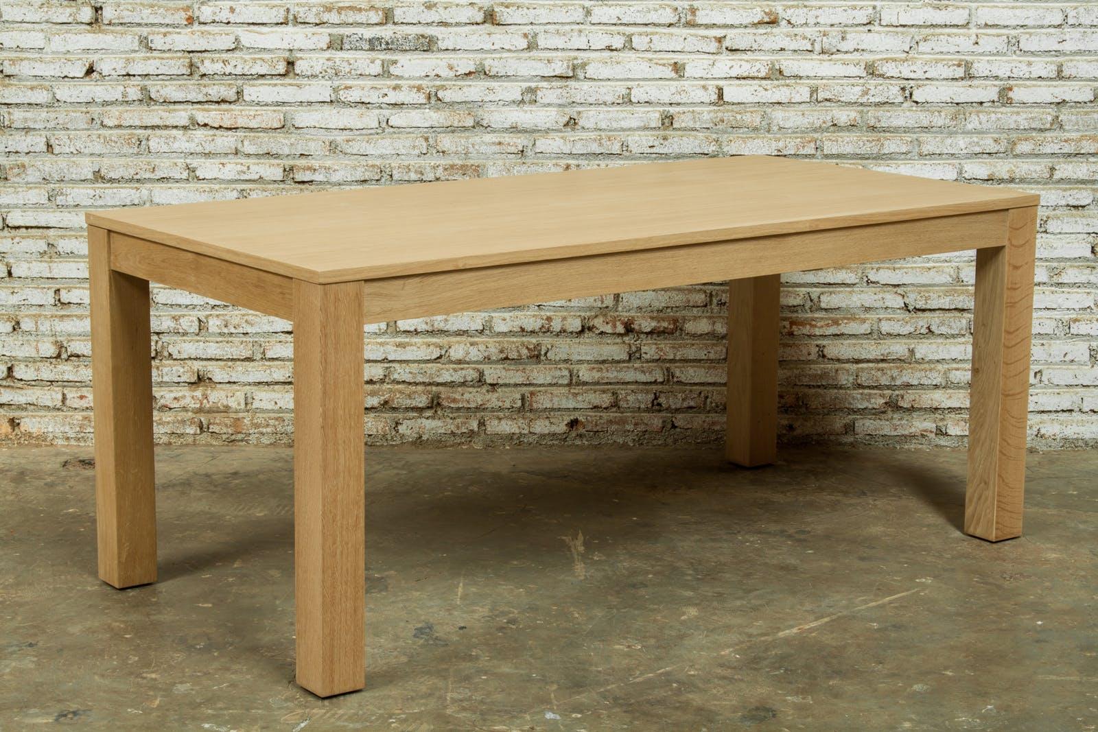 Table de Repas extensible en Chêne massif naturel 180/235x90x76,5cm KUBICO