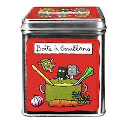 CUISINE DE VAL - Boite à cubes bouillons Rouge Métal DLP