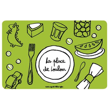LOULOU - Set de table Place de loulou Vert DLP