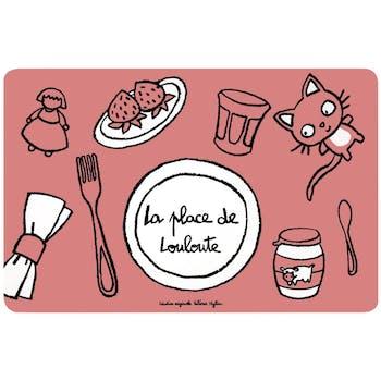 LOULOUTE - Set de table Place de Rose DLP