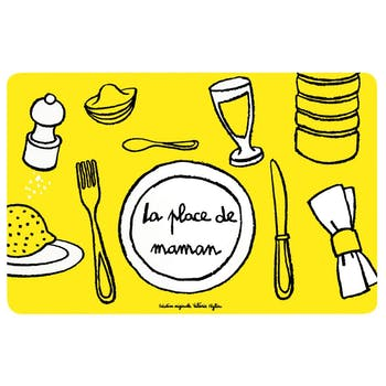 LOULOUTE - Set de table Place de maman Jaune DLP