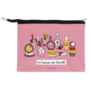 SECRETS DE BEAUTÉ - Trousse de maquillage CÉLIA Rose Vinyle DLP