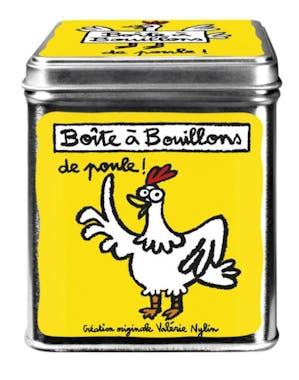 CUISINE DE VAL - Boite à cubes bouillons Poupoule Jaune Métal DLP