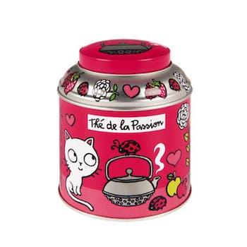 Boite à thé en vrac T'es in love Rose Métal DLP