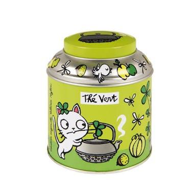 Boite à thé en vrac T'es verte Vert Métal DLP