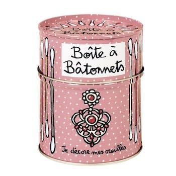 SECRETS DE BEAUTÉ - Boite à bâtonnets Mes oreilles Rose DLP