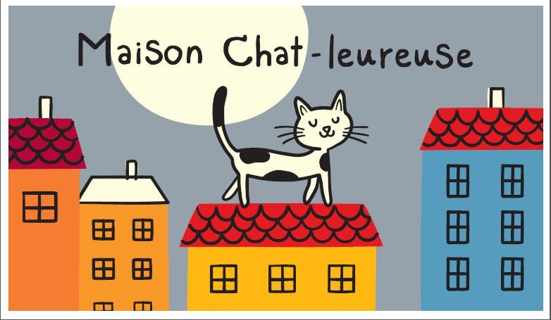 MAISON CHAT-LEUREUSE - Paillasson COCO rectangle Gris DLP