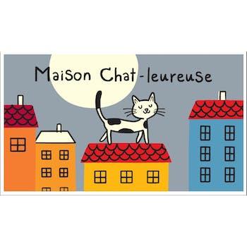 MAISON CHAT-LEUREUSE - Paillasson COCO rectangle Gris DLP