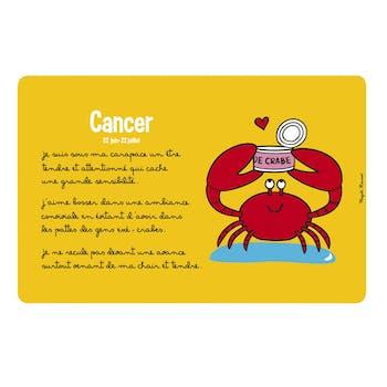 ZODIAQUE - Set de table Cancer Jaune DLP