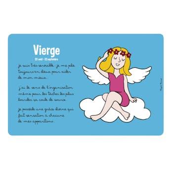 ZODIAQUE - Set de table Vierge Bleu DLP