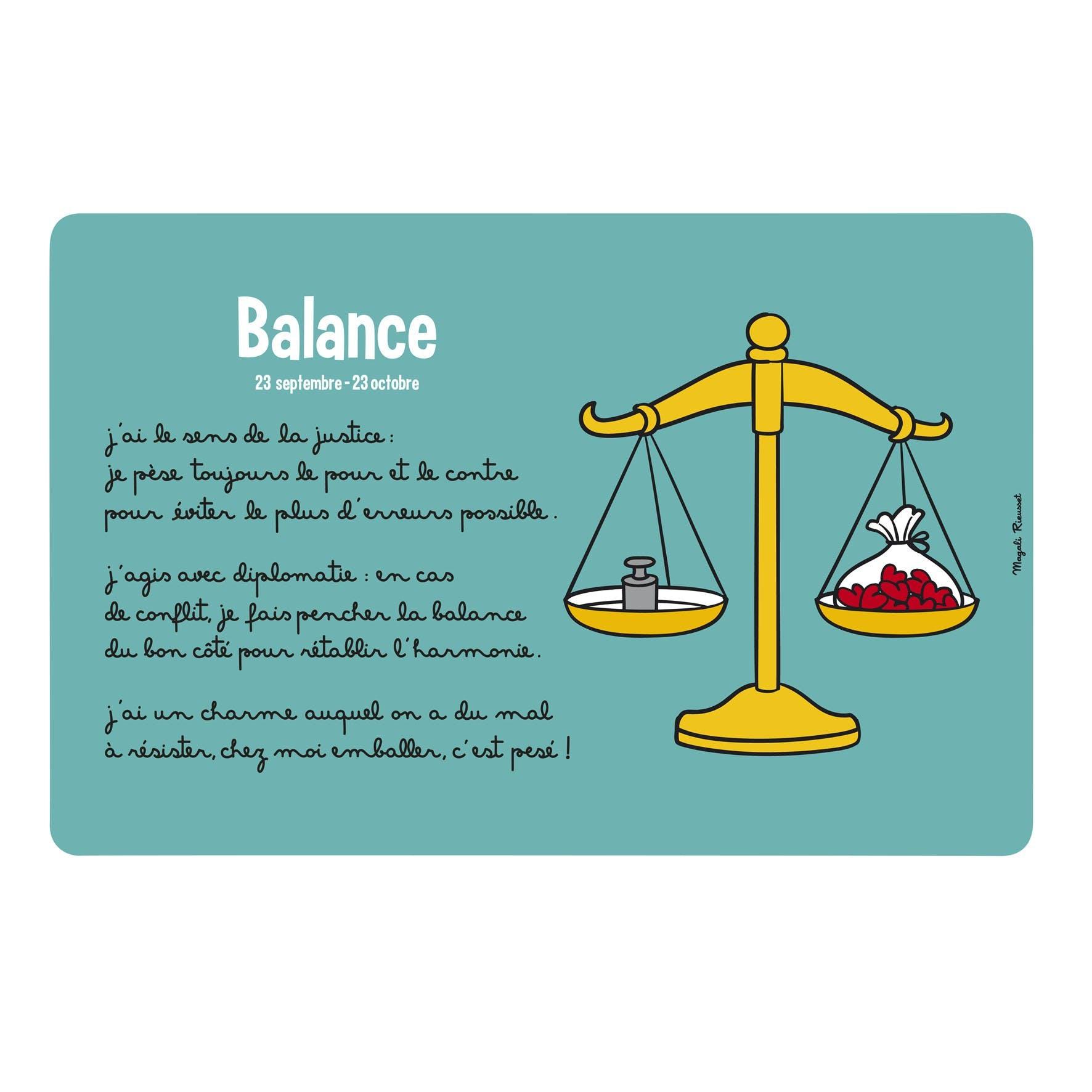 ZODIAQUE - Set de table Balance Turquoise DLP